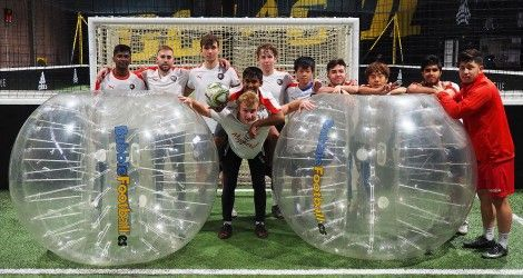 B1 Players at Bubble Soccer