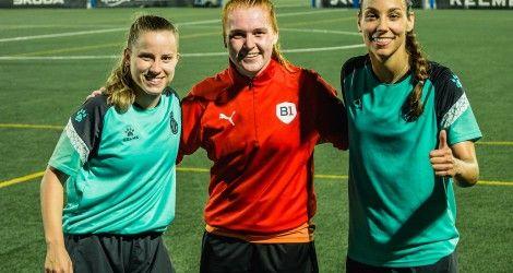Simone Hofer training with RCD Espanyol